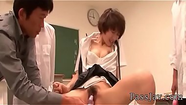 Akina Hara&#039_s teacher gives her some special sexual lessons in class