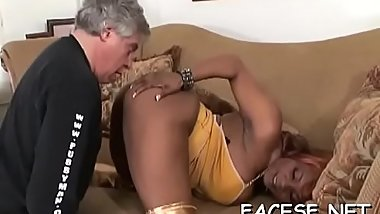 Big titted babe humiliates and smothers an older fellow