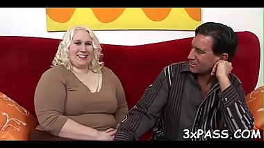 Guy and fattie are having wonderful oral fun previous to camera