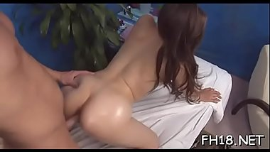Pretty sexy gets in nature'_s garb for her raunchy massage