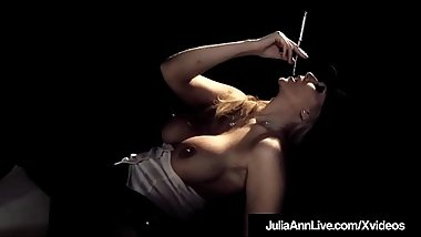 Award Winning MIlf Julia Ann Blows Cig &amp_ Cock Center Stage!