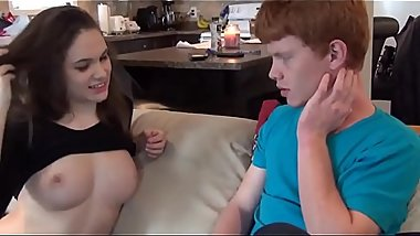 Sister Gets Fucks by Redhead Brother for Tv Remote