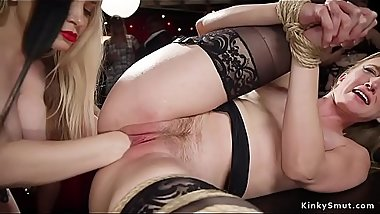 Beautiful slaves fucking in multiple positions