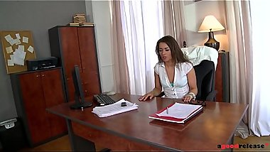 Female Boss Savannah Secret Gets Hairy Pussy Fucked Until Creampie Finale