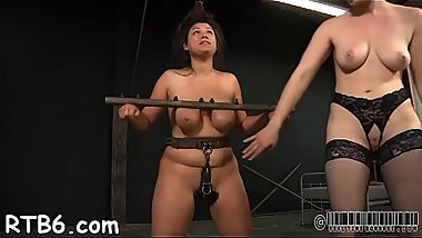 Tied up chick is punished by dom for her wicked sins