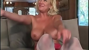 Milf Dana Hayes shows off her huge tits and then gets fucked bent over