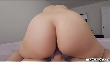 Stepson jizzed all over stepmoms ass