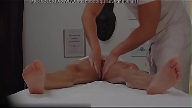 Brunette Beautiful Babe Secretly Fucks on Massage Table