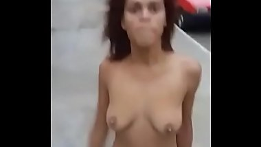 Teen on drugs running around naked