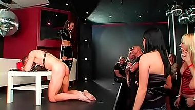 Hot bdsm festish with nasty dominatrix-bitch spanking her thrall hard