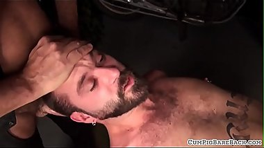 Spitroasted bear shoots jizz after breeding