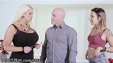 MILF Alura Jenson Loves Being Surprised By Hubby &amp_ Teen Mistress