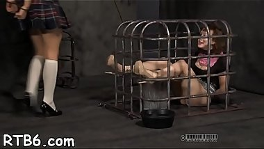 Hot beauty is tearing up from her hardcore torture