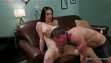 Tranny anal fucks and toys therapist