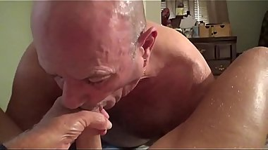 Sucking cock to completion