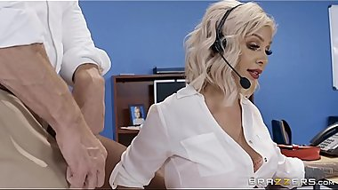 Call Center Cock Madelyn Monroe &amp_ Johnny Sins Big Tits at Work full video at http://bit.ly/brazzersfull