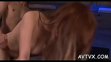 Hot oriental darling mesmerizes with superb blowjob