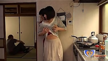 Japanese Milf Can'_t Resist Him in Home Kitchen