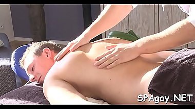Steamy hot massage session for lustful homosexual stud