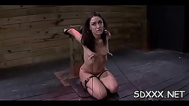 Curvy playgirl experiences pain in hot bdsm sex session