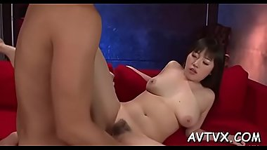 Stud is fingering and tasting japanese babe'_s curly pussy