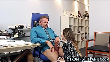 Teen stepdaughter intern