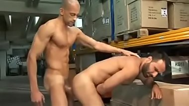 Aybars gets fucked on the factory floor