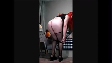 redhead crossdresser Striptease