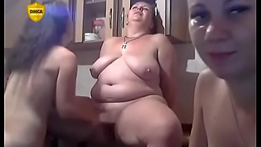 Mature lesbian with two young girls