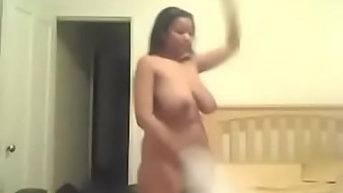 Homemade Ebony Strip Dance.