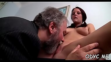 Old and young do a scene with wild vehement fucking