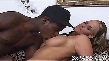 Anal of sexual floozy is stuffed by big darksome piece of meat