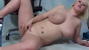 Casting a horny 19yo with huge natural breasts!