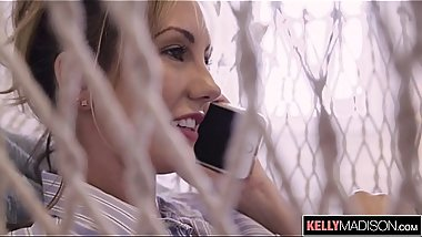 Horny Housewife Brett Rossi Swallows the Handyman'_s Load