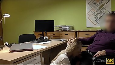 LOAN4K. It&#039_s not a casting but blonde undresses and fucks in office