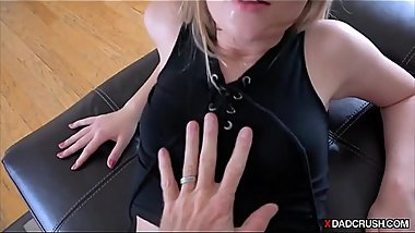 Sneak fucking my stepdaughter in front of wife