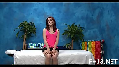See as these cute 18 year old girls get a surprise pleased ending by their massage therapist!