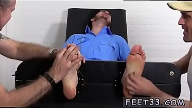 Of hairy legs and dicks feet gay sex Officer Christian Wilde Tickled