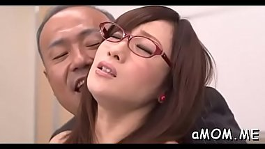 First time mama works younger cock in her oriental mouth
